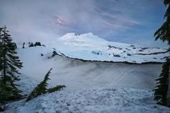 Rock Climbing Photo: Easton Glacier view at dusk
