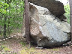 Rock Climbing Photo: Doomsday Preppers, V5-.   Start under the obvious ...