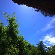 Rock Climbing Photo: Cleaning Natural Selection Edit