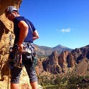 Rock Climbing Photo: Preparing to rap (off of Super Slab) - edit
