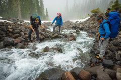 Rock Climbing Photo: Stream Crossing on Railroad Grade