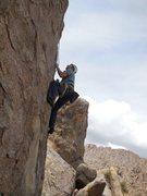 "Rock Climbing Photo: Moving up on the wonderful sharp edges of ""Go..."