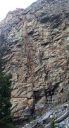 Rock Climbing Photo: Red Hanger Dihedral route.