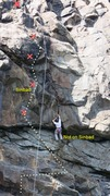 Rock Climbing Photo: CLIMBER IS NOT ON SINBAD, but on a made-up route j...