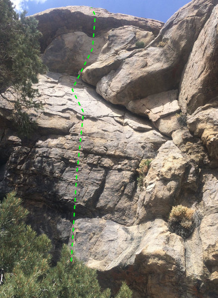 Rock Climbing Photo: Follow the bolts up plates, then head right and up...