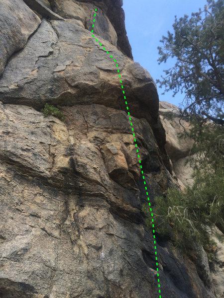 Climb up the bulge, to easier face climbing.