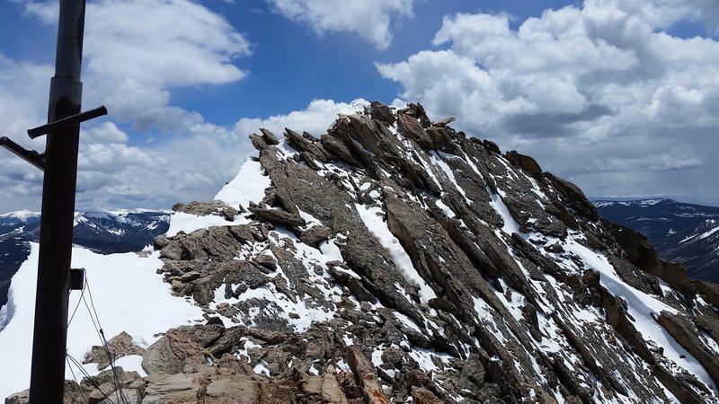 Summit ridge.