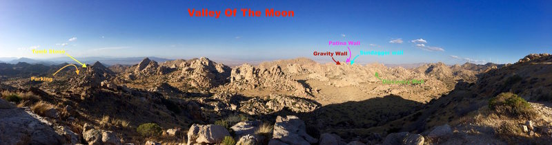 panoramic of valley of the moon