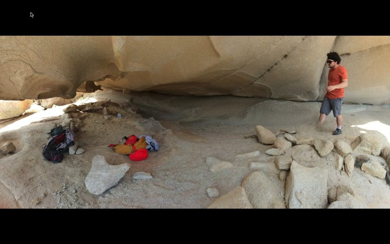 a perfect place to sleep, a cave due east of tombstone wall about 15 minutes from gravity wall
