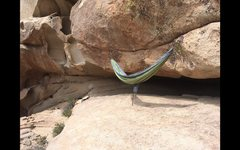 Rock Climbing Photo: a nice spot to relax at the cave.