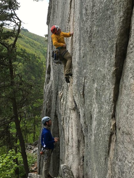 A nice May Day for climbing.