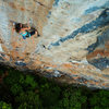 El Hombre y el Mar (5.11b) at Sector Paraiso, Playa Frontón <br> Photo copyright Andrew Burr