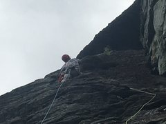 Rock Climbing Photo: First pitch of Cave Route.