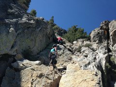 Rock Climbing Photo: Leading P1 after Josh & Hunter