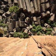 Rock Climbing Photo: Incredible hand jamming.