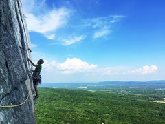Rock Climbing Photo: Pitch 3 of CCK on a hot Memorial Day weekend, 2016...