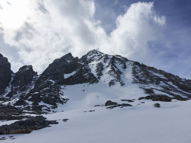 Mt. Agassiz from Bishop Pass 5/28