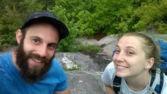 Rock Climbing Photo: KLs and I are at the top of pitch 1. This climb is...