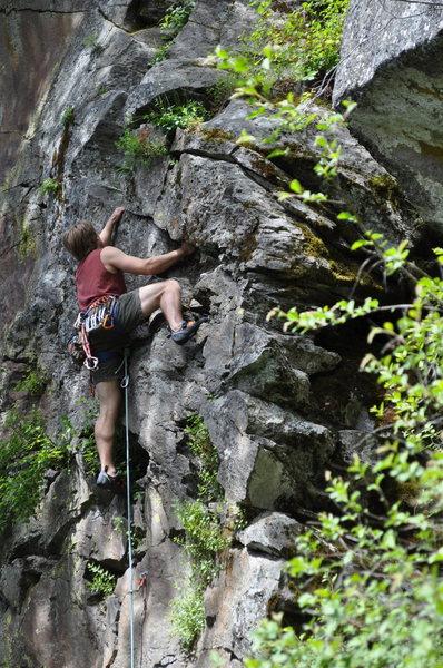Rock Climbing Photo: Leader on 'Worth the Walk'