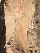 Rock Climbing Photo: Looking down at the final few pitches of Zion afte...
