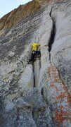 Rock Climbing Photo: Traveler's Buttress - the offwidth