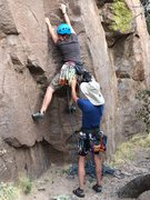 Rock Climbing Photo: Getting to the first clip
