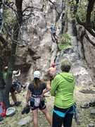 Rock Climbing Photo: NM Mountain Club cheerleaders