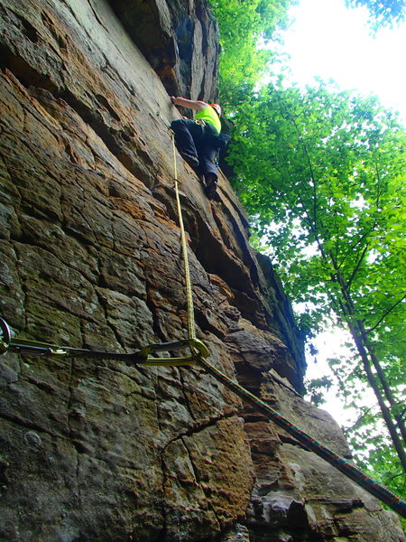 Rock Climbing Photo: Me onsighting The Offering.