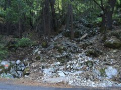 Rock Climbing Photo: Here is the start of the trail coming off the road...