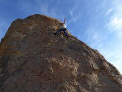 Rock Climbing Photo: Eugene on top of the Werner's Werthers. First time...
