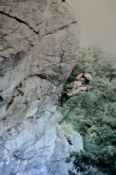 Rock Climbing Photo: John McLaughlin air voyaging....