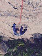 Rock Climbing Photo: Jean Madsen following waves