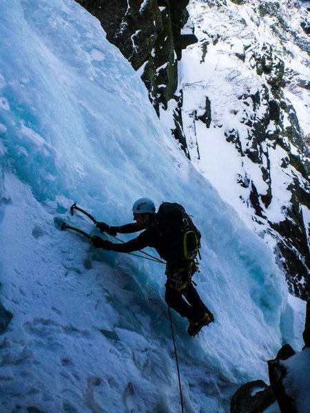 &quot;IT'S THE CHANCE OF A LIFETIME!&quot;<br> <br> Pinnacle Gully, Mt. Washington - New Hampshire<br>