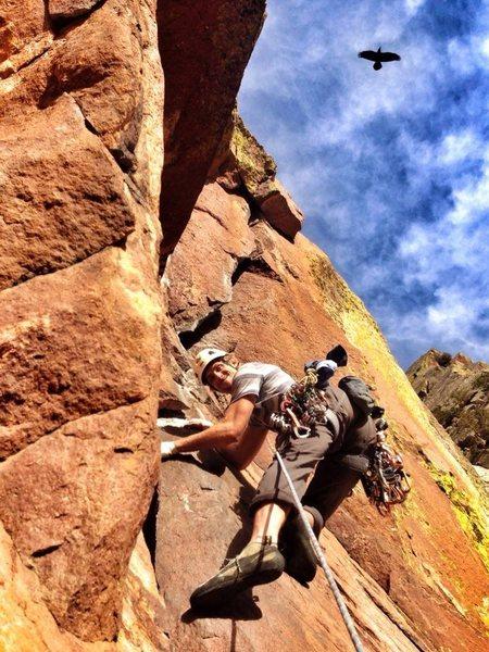 Rock Climbing Photo: Giddy as a school boy!