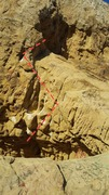Rock Climbing Photo: start low and right, and eventually go high and le...