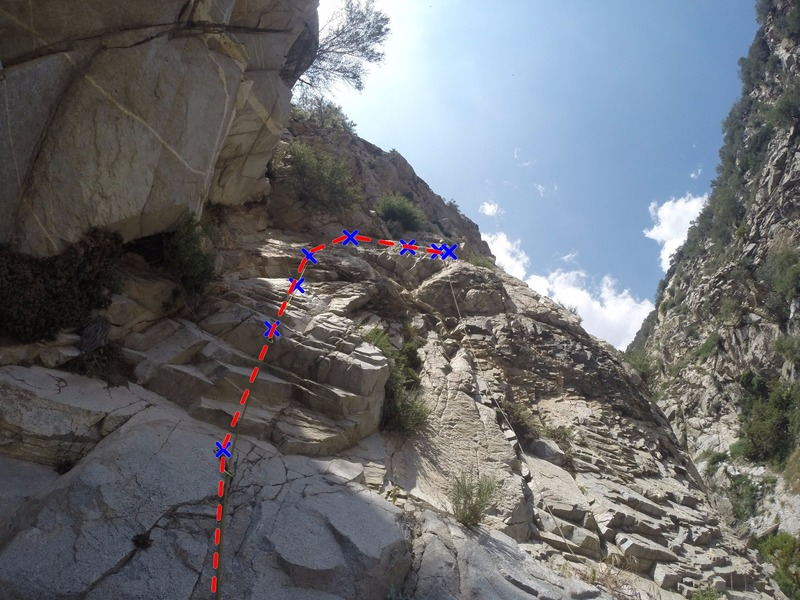 Rock Climbing Photo: Pitch 2 of Super Soul Slab