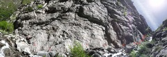 Rock Climbing Photo: Panoramic of the entire Industrial Wall with the a...