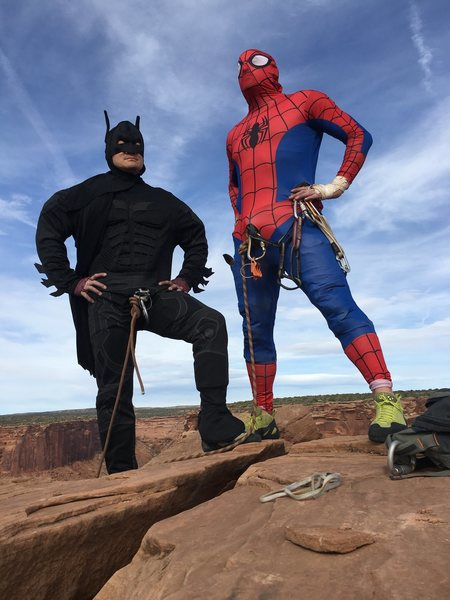Rock Climbing Photo: Even superheroes recommend this classic.