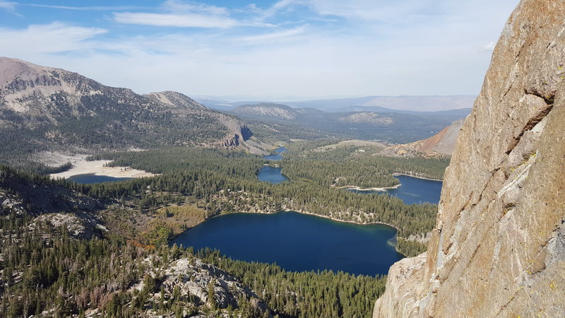 view of the lakes below Crystal Crag (Sept 27, 2015)