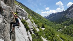 Rock Climbing Photo: The airy hand traverse at the top
