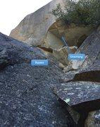 Rock Climbing Photo: Overhang bypass