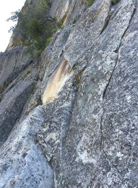 Rock Climbing Photo: The missing flake