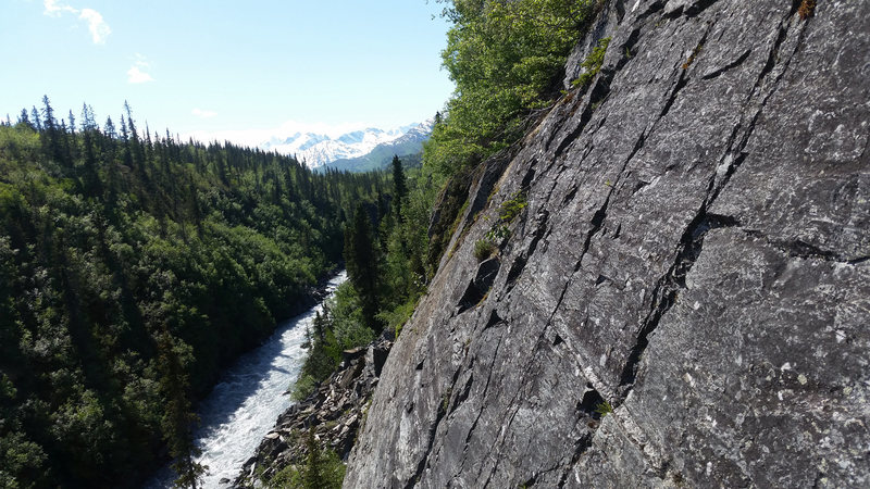 Rock Climbing Photo: Upper seams make for a some spicy gear but it is a...