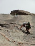 Rock Climbing Photo: Steve Grigel on the first pitch.