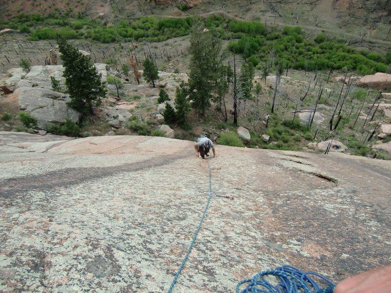 Rock Climbing Photo: Steve Grigel seconding.
