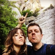 Rock Climbing Photo: Boris and Natasha on the commie mission