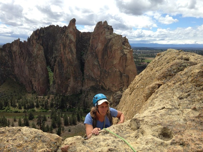 h at the top of zion.  amazing views from the last pitch/summit.