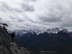 Rock Climbing Photo: Jordan about to cross Cory's Crack on the traverse...