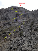 Rock Climbing Photo: As best as I can tell the descent from the top of ...