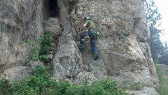 Rock Climbing Photo: Starting up the ramp